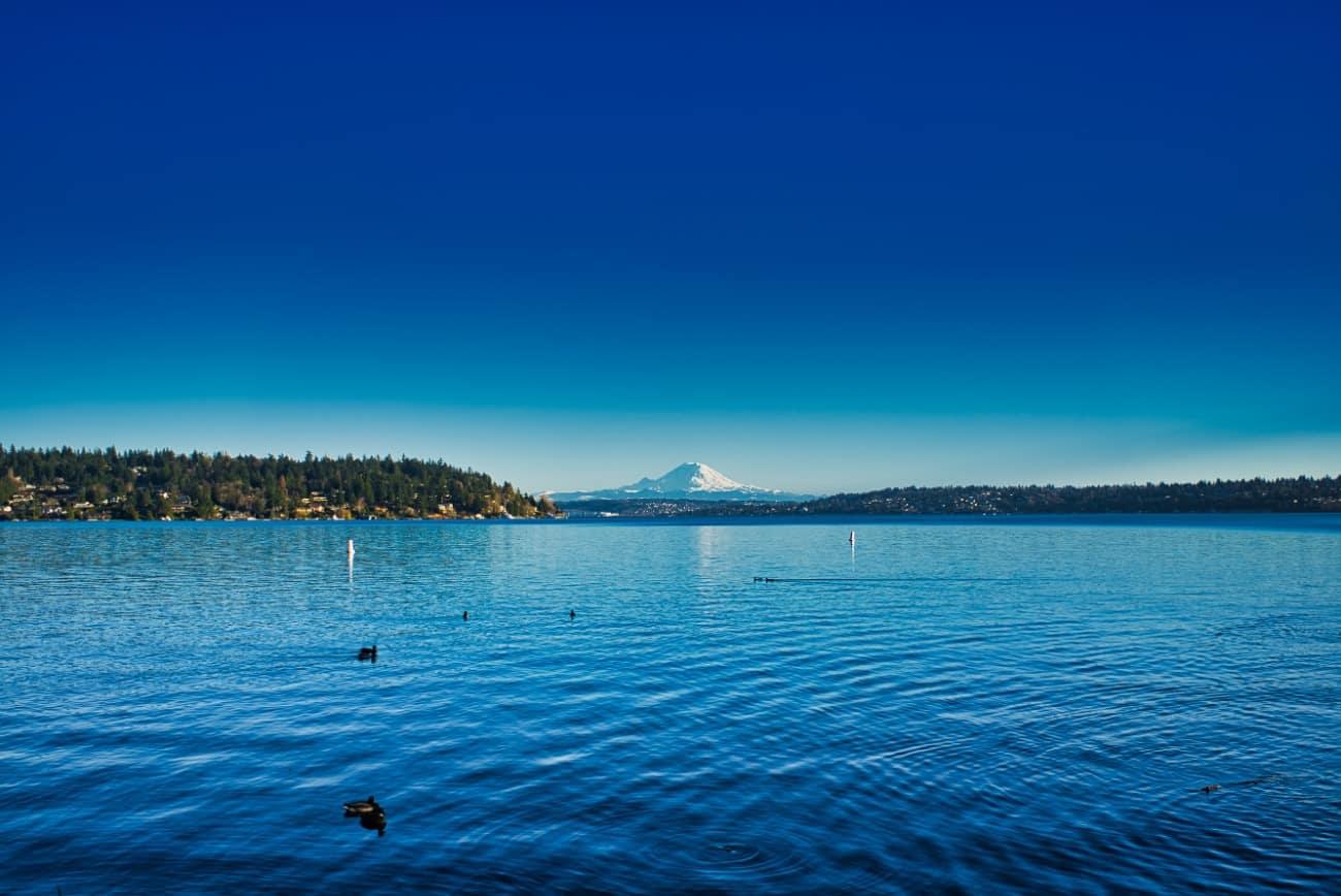 Seattle Blue Water Mt Rainier