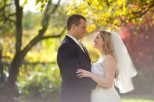 an eloping husband and wife in the beautiful outdoors of the Pacific Northwest